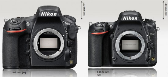 Nikon-D810-vs-D750-size-comparison