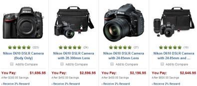 Nikon D610 sale