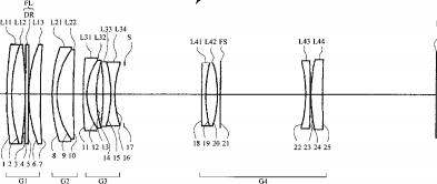 Nikon 200mm f:4 lens patent