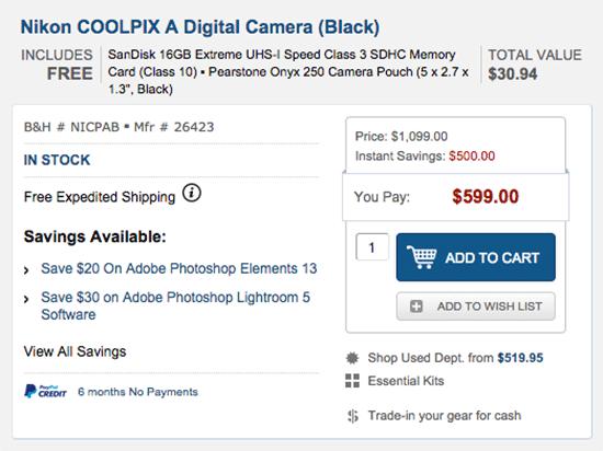 Nikon-Coolpix-A-camera-price-drop