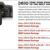 Nikon-D610-instant-rebates-savings