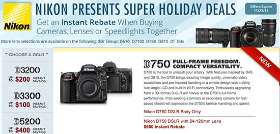 Nikon-D750-instant-rebate-savings