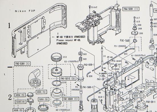 Nikon F3-P Parts Diagram 1