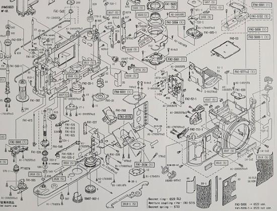 Nikon F3-P Parts Diagram 2