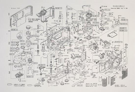 Nikon F3-P Parts Diagram 3