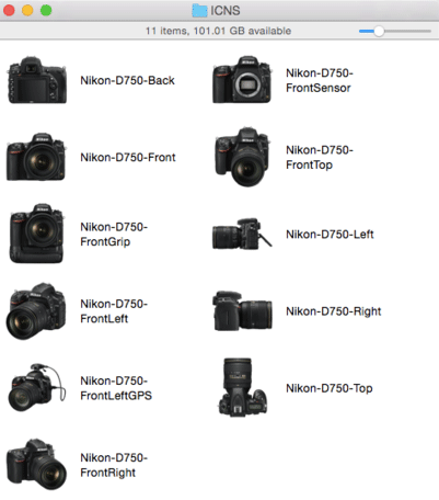 Nikon-icons