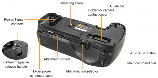 Pixel-Vertax-D16-battery-grip-for-Nikon-D750-DSLR-camera-1