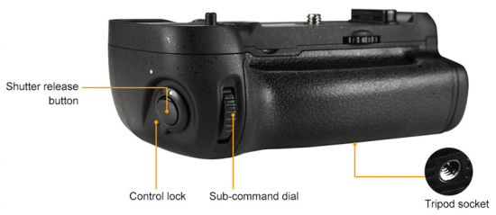 Pixel-Vertax-D16-battery-grip-for-Nikon-D750-DSLR-camera-3
