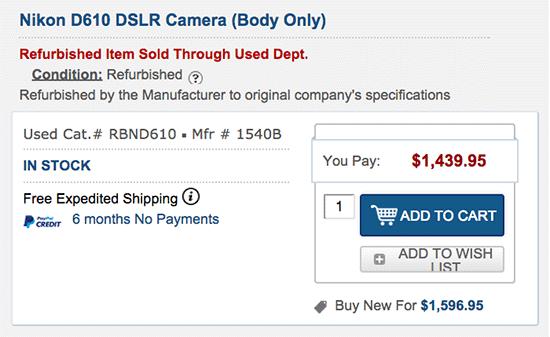 Refurbished-Nikon-D610-camera-price-drop
