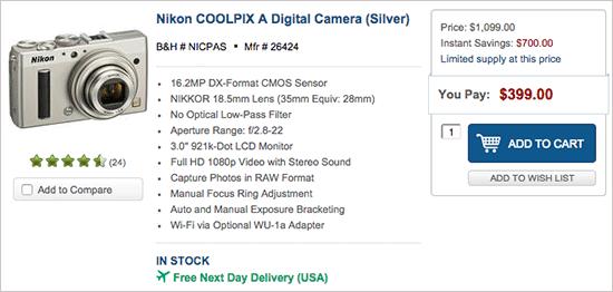 Nikon-Coolpix-A-camera-sale
