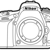 Nikon-D750-DSLR-camera-lineart