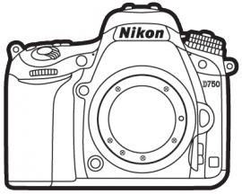 Nikon Camera Line Drawing