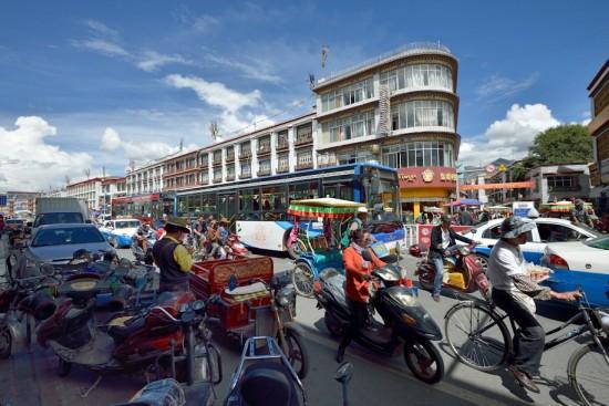 Moden part of Lhasa
