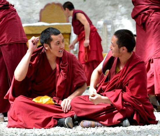Munks at Sera Monastery