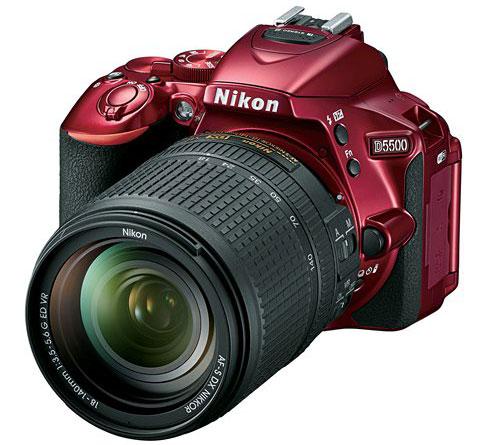 Nikon-D5500-camera-in-red