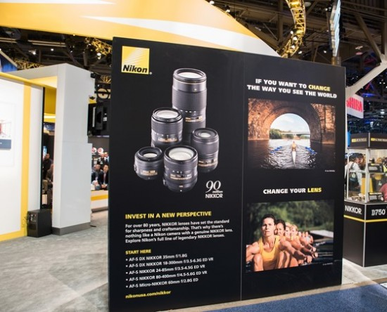 Nikon booth at CES 2015-16