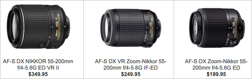 Specifications-comparison-between-the-three-generations-of-the-Nikon-55-200mm-f4-5.6-lens