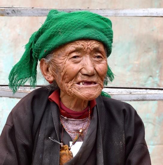 old Tibetan grandmother