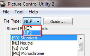 Nikon Picture Controls and Utility 2 software