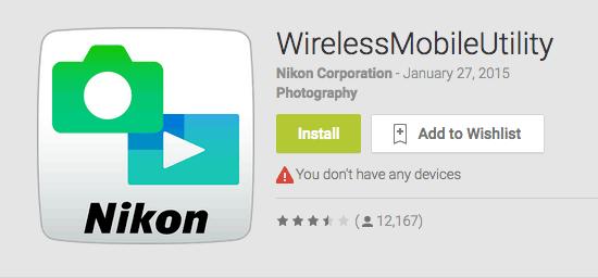 Nikon-Wireless-Mobile-Utility-Android
