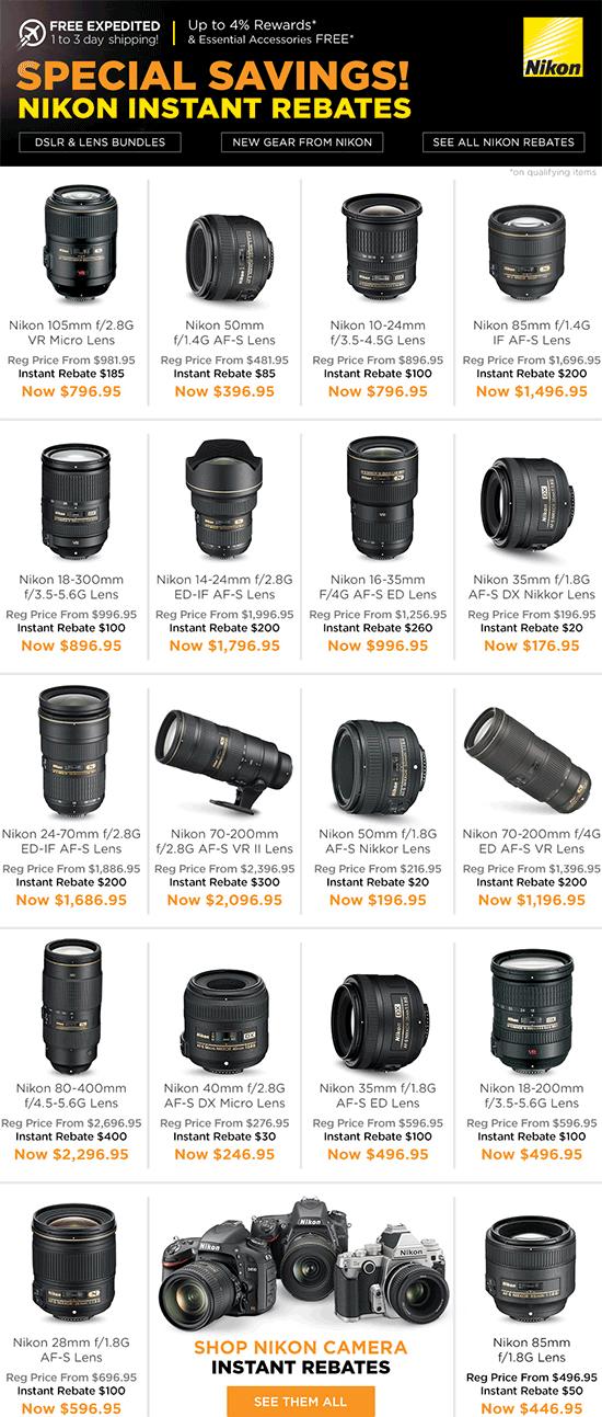 Nikon-lens-only-instant-rebates
