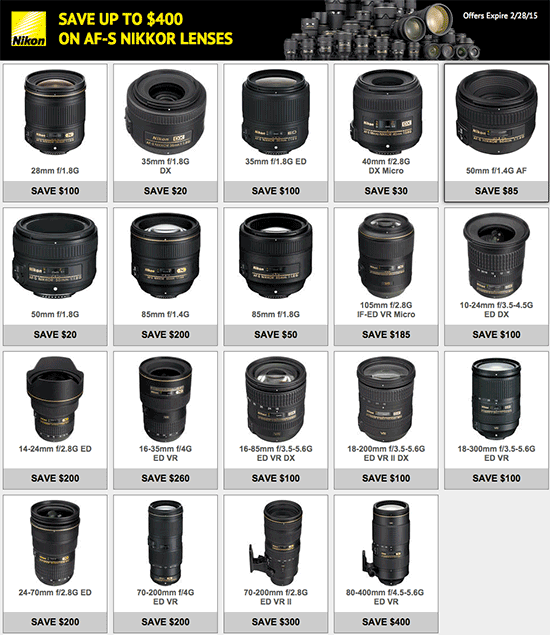 Nikon's lens-only instant rebates are back *UPDATED* - Nikon Rumors