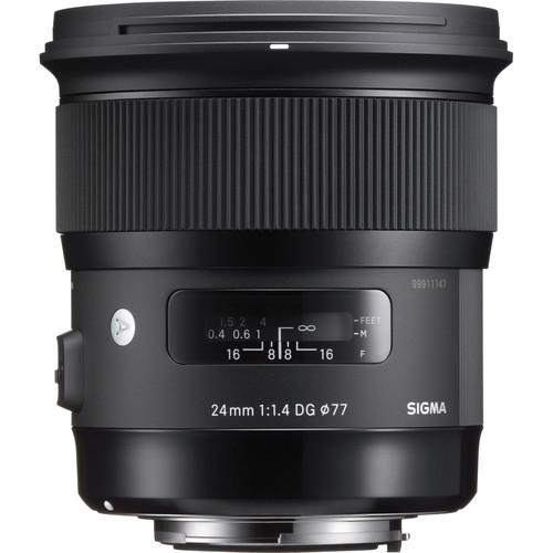 Sigma 24mm f:1.4 DG HSM Art Lens for Nikon F