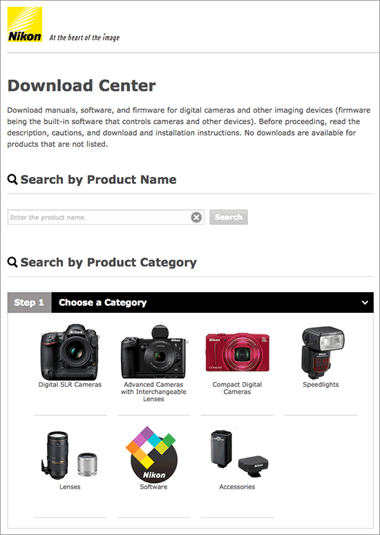 New Nikon Download Center Launched With Several New Software Updates