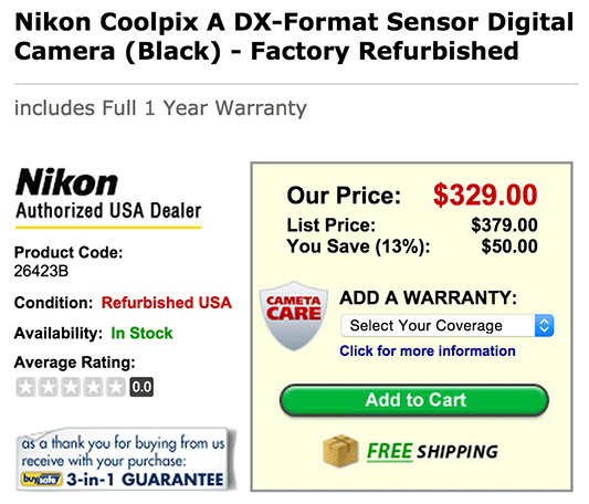 Nikon-Coolpix-A-camera-fire-sale