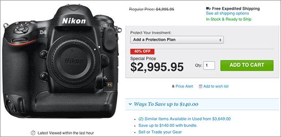 Nikon-D4-DSLR-camera-deal
