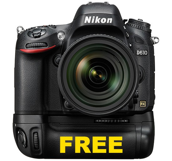 Nikon-D610-with-free-MBD14-battery-grip