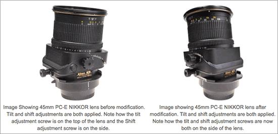 Modification-of-tilt-and-shift-mechanism-of-Nikon-PC-E-lenses