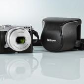 Nikon-1-J5-camera-with-leather-case
