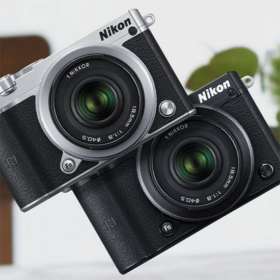 Nikon-1-J5-mirrorless-camera-silver-and-black