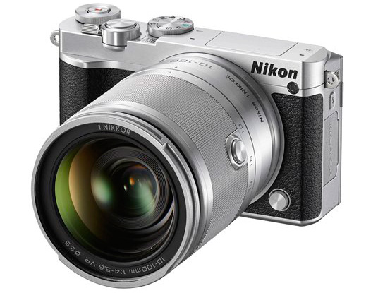 Nikon-1-J5-silver-black-mirrorless-camera