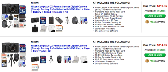 Nikon-Coolpix-A-camera-kits-on-sale