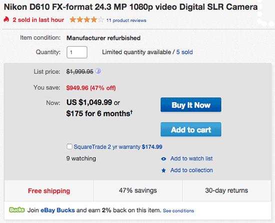 Nikon-D610-new-low-price
