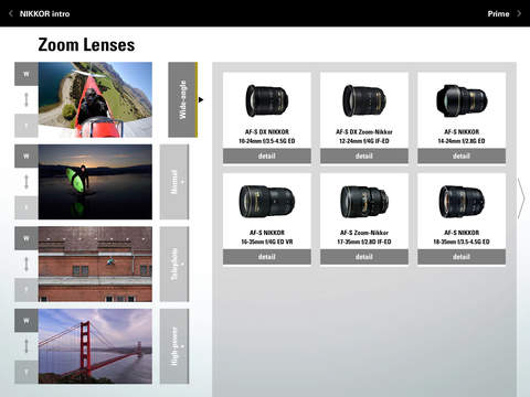 Nikon NIKKOR & ACC app for iPad 3