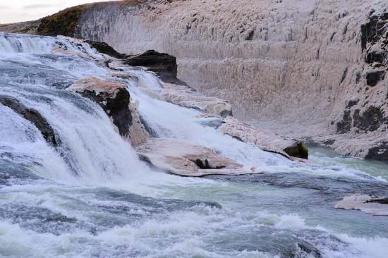 Gullfoss Waterfalls in Winter