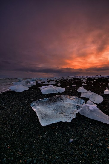 Beach near the Vatnajökull Glacier