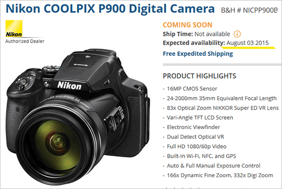 Nikon-Coolpix-P900-camera-availability