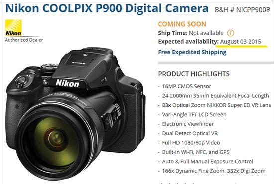 Nikon-Coolpix-P900-camera-availability