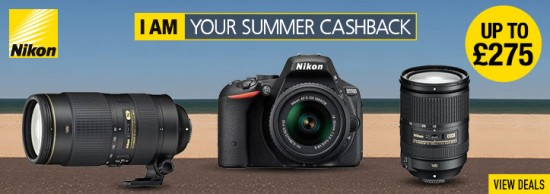 Nikon UK summer cashback offers