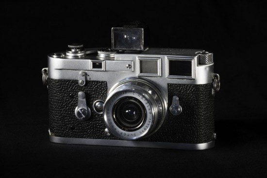 Leica M3 camera with Cambo Actus and Nikon D810