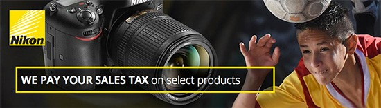 Nikon-pays-sales-tax-promotion