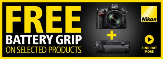 free Nikon battery grip offer