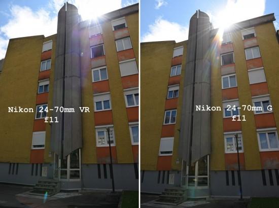 Comparison between Nikon AF-S 24-70mm f2.8G and Nikon AF-S 24-70mm f2.8VR