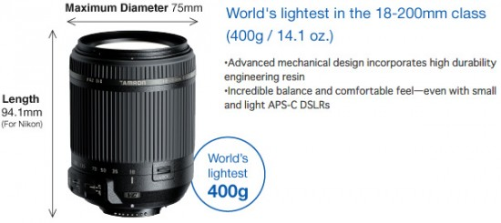 Tamron-announced-the-lightest-18-200mm-f3.5-6.3-Di-II-VC-zoom-lens-for-Nikon-F