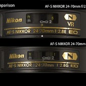 technical details on the new Nikon 24-70mm f:2.8E ED VR lens