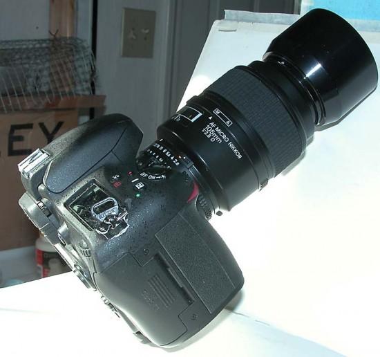 Damaged Nikon D610 camera 2